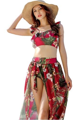 YG Fitness red (3PCS) Elegant Retro Bikini Set 8D8F1US8A5F49EGS_1