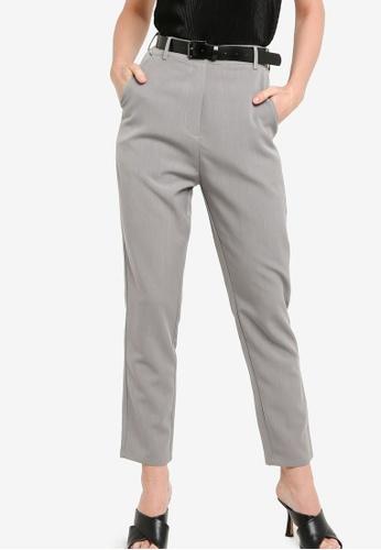 ZALORA WORK 灰色 Smart Tailored Pants 937ECAAE94B867GS_1