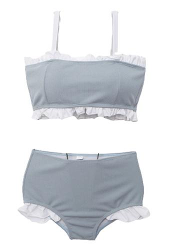 Halo grey (2pcs)  Ruffle Bikini Swimsuit 23127USB414FC4GS_1