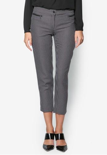 點點zalora時尚購物網的koumi koumi印花九分西裝長褲, 服飾, 服飾