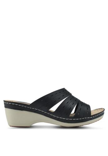Bata 黑色 懶人楔型鞋 BCE70SH2625AD6GS_1