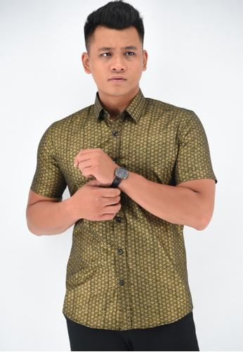 UA BOUTIQUE black Short Sleeve Shirt Batik UASSB50-011 (Black) EA87EAA604D91EGS_1