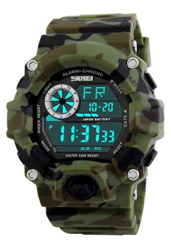 Skmei green SKMEI 1019 Men's Military Fashion LED Digital Sports Watch (Army Green) SK707AC0RXNVMY_1