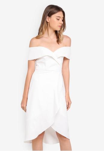 Bardot white Bella Flute Dress BA332AA0STBAMY_1