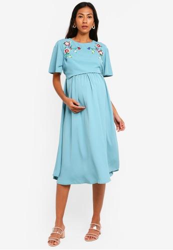 7f638d67686d8 Buy JoJo Maman Bébé Embroidered Maternity And Nursing Dress | ZALORA HK