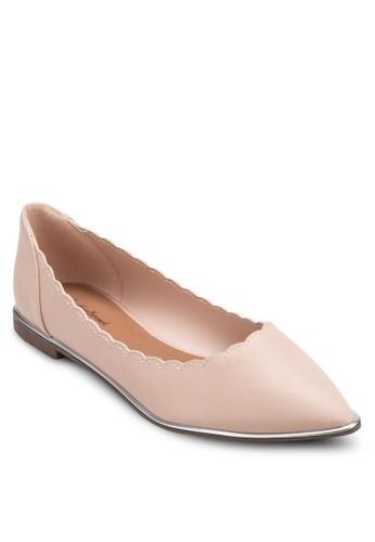 花邊尖頭平底鞋, 女鞋,zalora 心得 芭蕾平底鞋