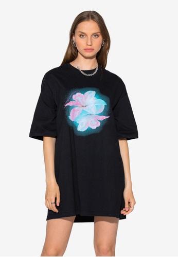 Local Heroes black Flower Mixed T-Shirt Dress D3642AA7E12E98GS_1