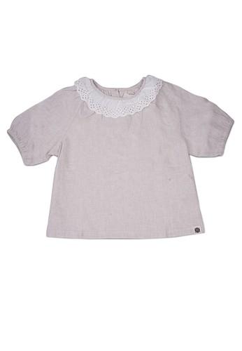 Giordano beige Linen Girl's Shirt FE678KAFA79684GS_1