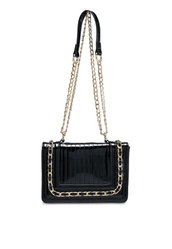 Dorothy Perkins black Black Patent Mini Chain Bag D7A8FAC441724CGS_1