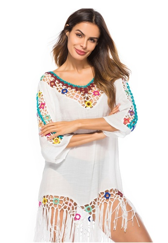 LYCKA white LTH4065-European Style Beach Casual Outer Dress-White B2BE1US84A41BAGS_1