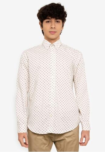 Ben Sherman white Target Spot Print Shirt 960DCAAF7590B3GS_1
