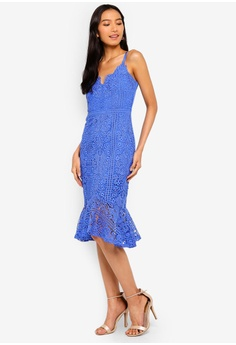 b66f9ad638 Lipsy blue Scallop Lace Dress 7DE06AA8A69AE0GS 1