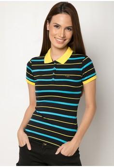 Slim Fit Stripes Polo Tees