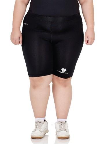 Tiento black Tiento Short Pants Black White Celana Legging Wanita Big Size Olahraga Renang Sepakbola Lari C168FAA6F14903GS_1