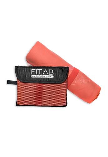 Fitlab red and orange Microfiber Beach Towel 093E9HL2BBD423GS_1
