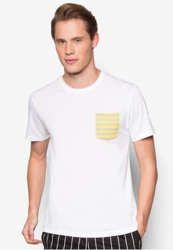 條紋口袋TEEzalora退貨, 服飾, T恤