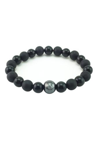 Memento Collection black Simple Black Natural Store Detailed Bracelet ME060AC27TEEMY_1