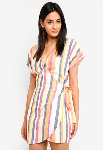 Supre yellow and multi Pipa Wrap Dress 7F622AA31FC54FGS_1