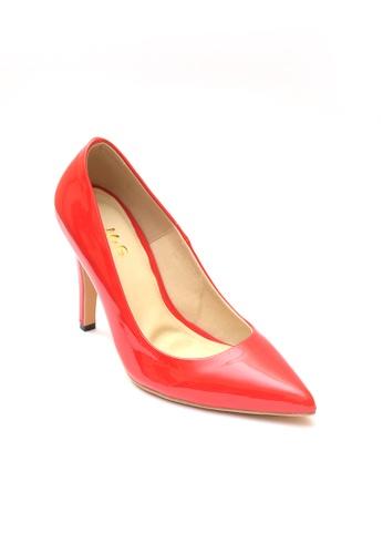 M&G red Abegail Heels by M&G MG741SH08CBRPH_1
