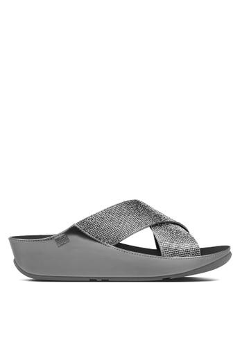 Fitflop silver Crystall Slide Sandals FI522SH16SBVMY_1