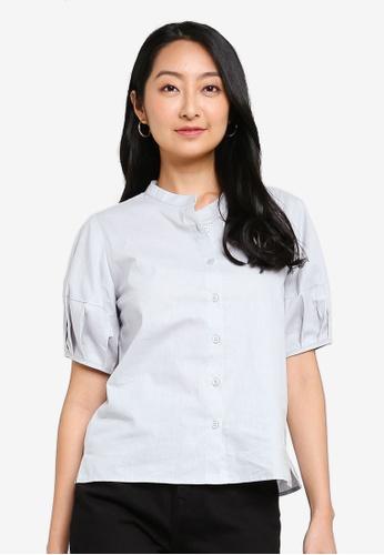 ZALORA BASICS grey Boxy Button Down Shirt D8EC8AAD26B3A3GS_1