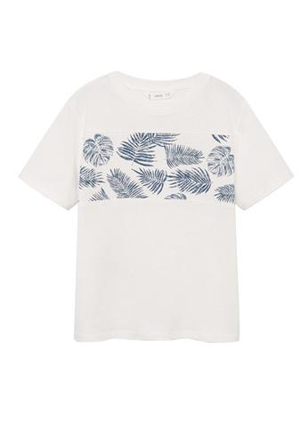 MANGO KIDS white Organic Cotton T-Shirt 0DACBKA792D5A2GS_1