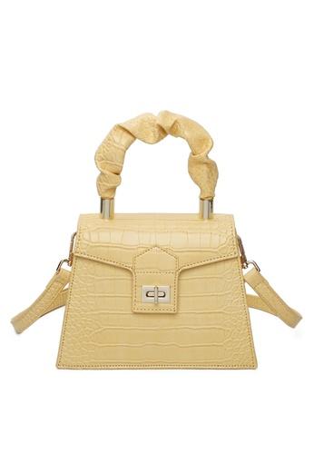 Milliot & Co. yellow Harper Top Hand Bag 67DC4AC27AAE67GS_1