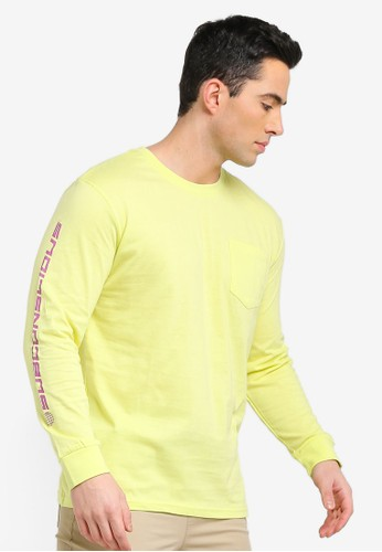Factorie yellow Long Sleeve Pocket T-Shirt C8BF1AA0039A9EGS_1
