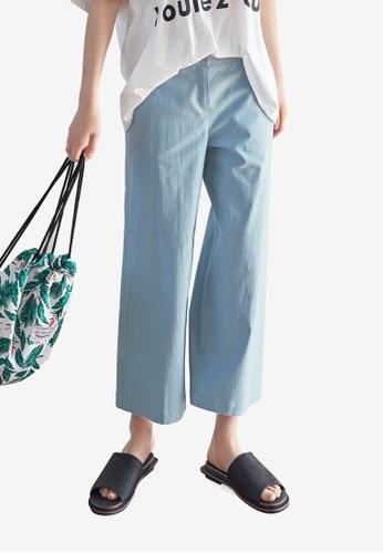 NAIN blue Cropped Pants 9F740AA12B8EE2GS_1