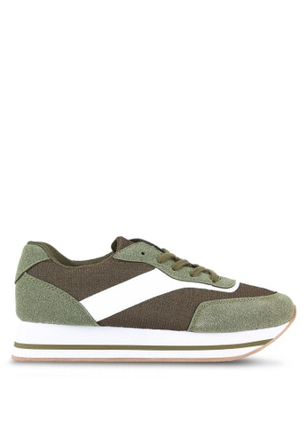 Something Borrowed green Lace Up Platform Sneakers 3A1D7SH845A2BDGS_1