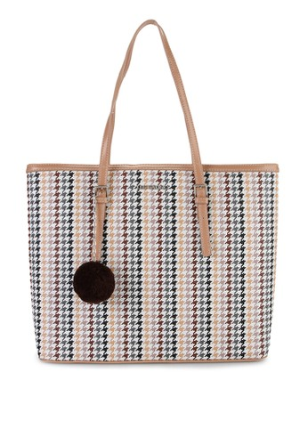 Les Catino Micores Houndstooth Tote