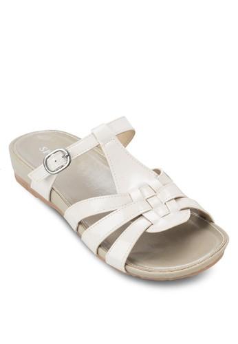 編織扣環週末涼鞋,zalora 折扣碼 女鞋, 涼鞋