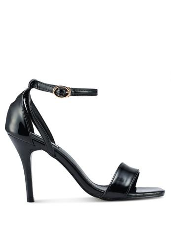 Mimosa 黑色 漆皮一字帶高跟鞋 69197SHF8DDCD5GS_1