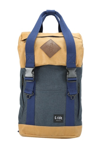 G.ride beige and navy Arthur XS Backpack E8237AC8D2D880GS_1