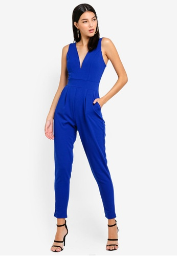 WALG blue Boned And Cupped Jumpsuit 0C045AA49833BFGS_1