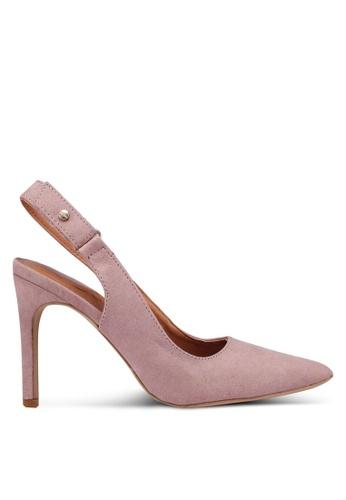Bata 粉紅色 麂皮後繞帶高跟鞋 6CDA4SH8946FC2GS_1
