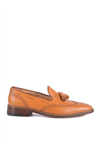 Bristol Shoes brown Lennox Tan Brown Wingtip Loafers 349EBSH8BE6EE1GS_1