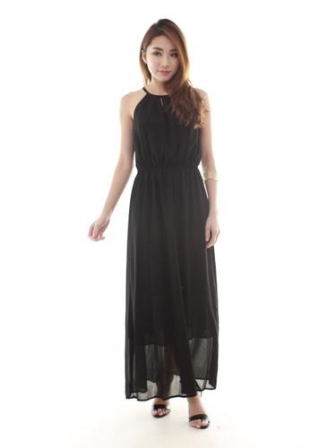 Sophialuv black Adrienne Halter Maxi Dress in Black 6BBD1AA2C9A97AGS_1