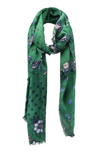 Esprit green Floral Shawl ES374AC0T17GMY_1