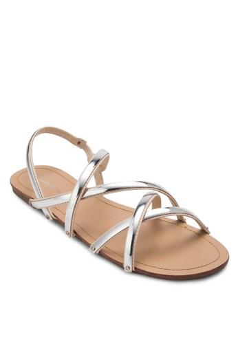 金屬交叉繞踝涼鞋, 女鞋esprit 童裝, 涼鞋