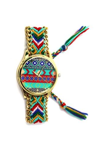 World of Watches multi Ethnic Pattern-B Crochet Strap Watch 002 WO566AC27UEAPH_1