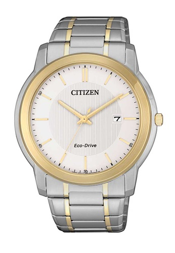 CITIZEN silver Citizen Eco-Drive Gold and Silver Stainless Steel Watch 40EB5ACAFD5040GS_1