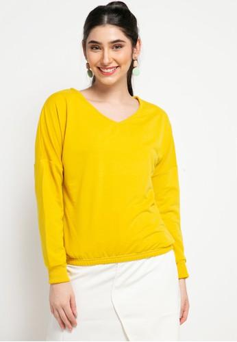 Gaff yellow Blouse Atasan Lengan Panjang Selvi BCAA4AAA6B9AFDGS_1