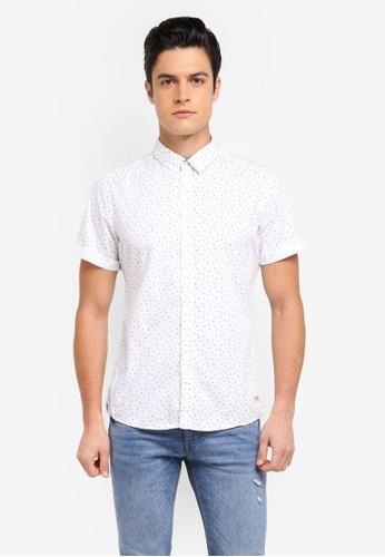 ESPRIT white Woven Short Sleeve Shirt EBC2CAA96CC70BGS_1