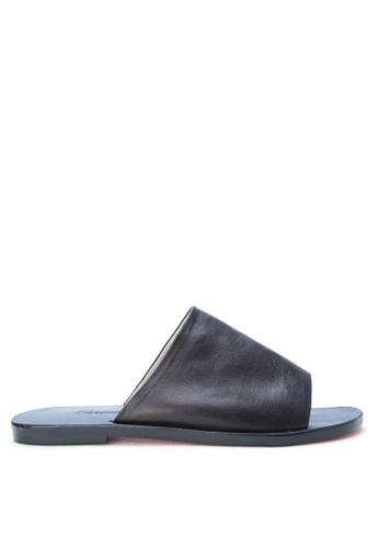 CARMELLETES black Leather Slides CA179SH0K518PH_1