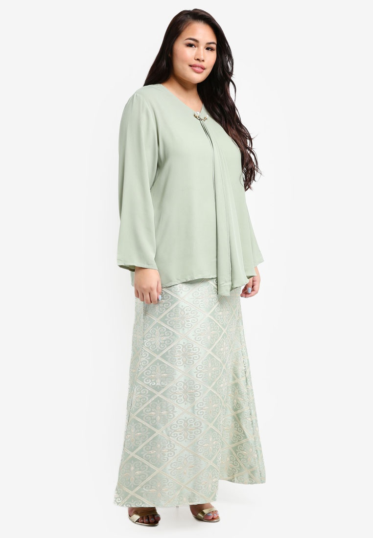 Songket BYN Green Songket Songket Green Green Skirt Skirt BYN Songket BYN Skirt BYN Green Skirt twAxwqf