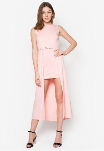 Daphne 無esprit 工作袖腰帶連身裙, 服飾, 派對洋裝
