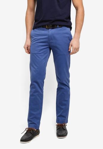Brooks Brothers navy Red Fleece Slim Chino True Pants F72B7AA6188091GS_1