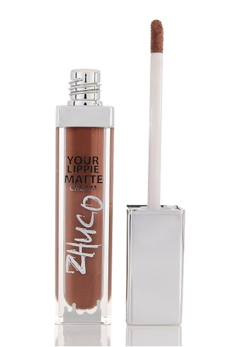 Zhuco Cosmetics brown Lippie Matte Cream 18 T.O.P ZH711BE0S2I2MY_1