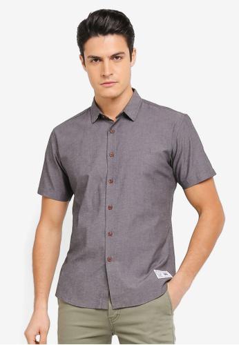 JAXON black Embroidered Logo Short Sleeves Shirt E4FDCAAE17B8BAGS_1